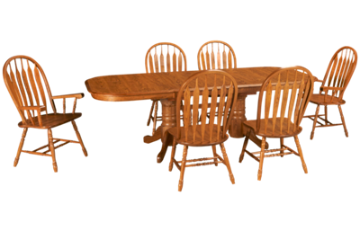 Intercon Classic Oak 7 Piece Dining Set