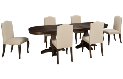 Jofran Nailhead 7 Piece Dining Set