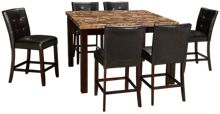 Crown Mark Marble 7 Piece Dining Set