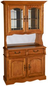 Intercon Classic Oak Buffet and Hutch