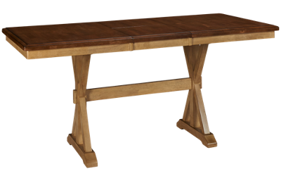 Winners Only Quails Run Counter Height Table with Leaf
