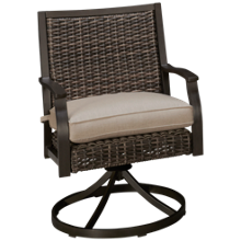 Agio International Trenton Swivel Rocker with Seat Cushion