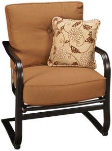 Agio International Willowbrook Deep Seat Spring Chair with Toss Pillow