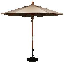 Treasure Garden Canopy 9' Pulley Octagon Umbrella