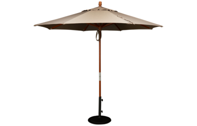 Treasure Garden Canopy 9' Pulley Octagon Umbrella