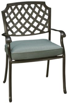 Agio International Melbourne Dining Chair with Seat Cushion