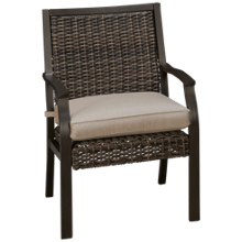 Agio International Trenton Dining Chair with Seat Cushion