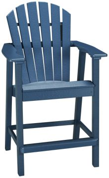 Seaside Casual Furniture Adirondack Shellback Balcony Arm Chair