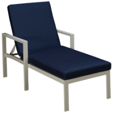 Gathercraft Capri Chaise with Cushion