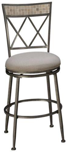 "Hillsdale Furniture Milestone 26"" Outdoor Swivel Stool"