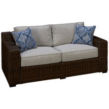 Ashley Alta Grande Loveseat with Cushions and 2 Toss Pillows