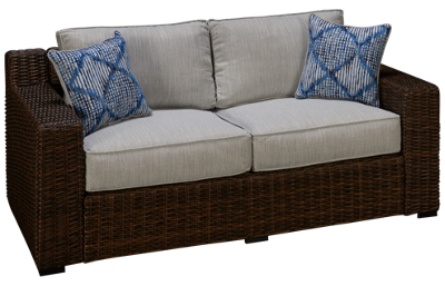 Ashley Alta Grande Loveseat with Cushions and 2