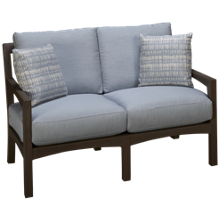 Klaussner Home Furnishings Delray Loveseat with Cushions