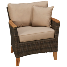 ScanCom Polynesia Sofa Chair with Toss Pillow
