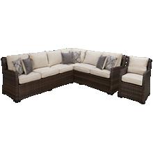 Ashley Easy Isle Sectional w/(1) Chair