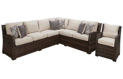 Ashley Easy Isle Sectional with 1 Chair