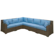 NorthCape Malibu 6 Piece Sectional with Cushions and 2 Toss Pillows