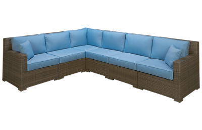 NorthCape Malibu 6 Piece Sectional with Cushions and