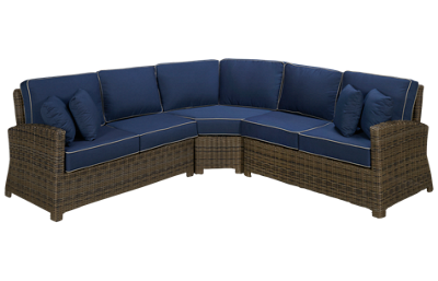NorthCape Bainbridge 3 Piece Outdoor Sectional with 4