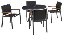 Lloyd Flanders Lux 5 Piece Outdoor Dining Set