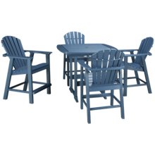 Seaside Casual Furniture Portsmouth 5 Piece Outdoor Dining Set