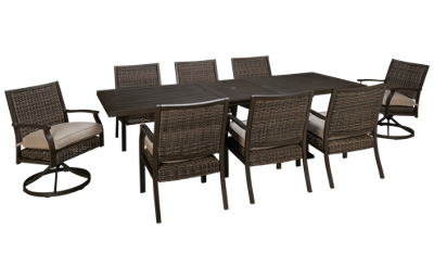 Agio International Trenton 9 Piece Outdoor Dining Set