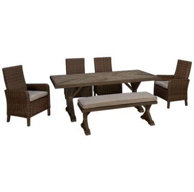 Ashley Beachcroft Ashley Beachcroft 6 Piece Outdoor Dining Set Jordan S Furniture
