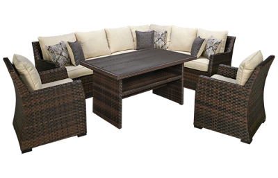 Ashley Easy Isle 4 Piece Outdoor Set