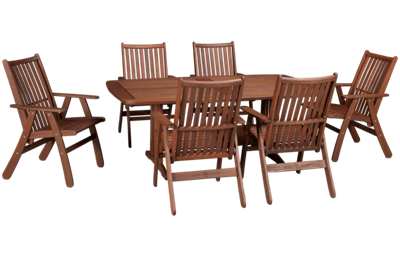 Jensen Leisure Belmont 7 Piece Outdoor Dining Set