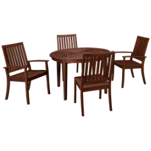 Jensen Leisure Ipe 5 PIece Outdoor Dining Set