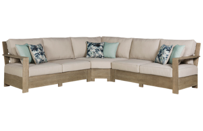 Ashley Silo Point 3 Piece Outdoor Sectional