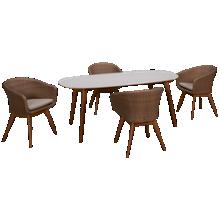 ScanCom Montreux 5 Piece Dining Set