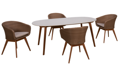 ScanCom Montreux 5 Piece Dining Set