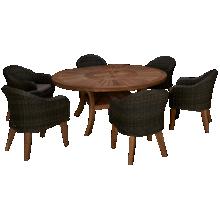 ScanCom Komodo 7 Piece Outdoor Dining Set