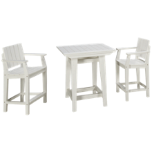 "Seaside Casual Furniture Modern 33"" Balcony 3 Piece Dining Set"