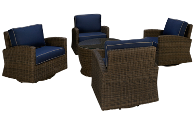 NorthCape Bainbridge 4 Piece Outdoor Chat Set