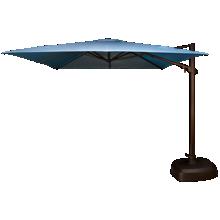 Treasure Garden Umbrellas 10' Square Cantilevered Umbrella and Base