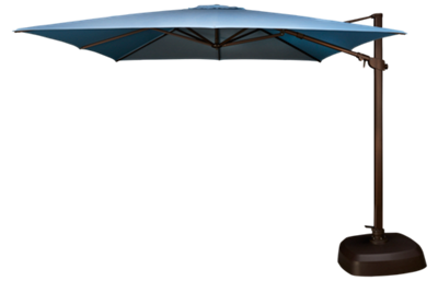 Treasure Garden Umbrellas 10' Square Cantilevered Umbrella and