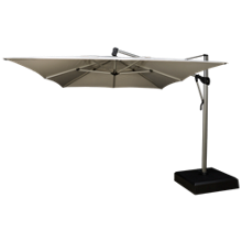 Treasure Garden 10' x 13' Rectangular Cantilevered Umbrella & Base