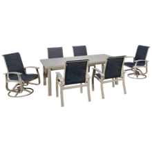 Telescope Casual Furniture Belle Sling 7 Piece Dining Set
