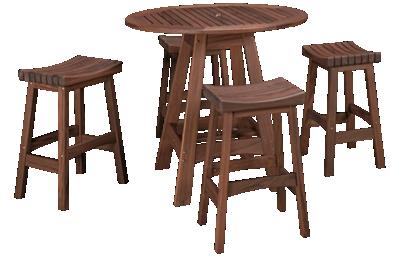 Jensen Outdoor Ipe 5 Piece Counter Dining Set