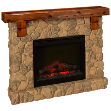 Dimplex Fieldstone Fireplace