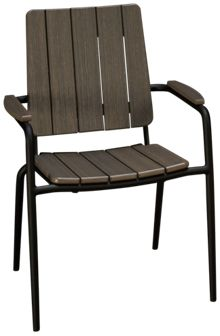 Seaside Casual Furniture Hip Stackable Dining Chair