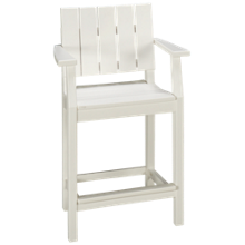 "Seaside Casual Furniture Modern 33"" Balcony Arm Chair"