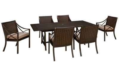 Agio International Davenport 7 Piece Outdoor Dining Set
