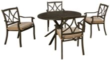 Agio International Davenport 5 Piece Outdoor Dining Set