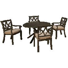Agio International Davenport 5 Piece Outdoor Dining Set