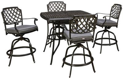 Agio International Madison Cafe 5 Piece Outdoor Dining Set