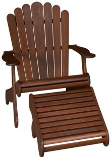 Jensen Leisure Adirondack Chair and Footrest