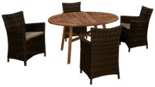 ScanCom Padang 5 Piece Outdoor Dining Set